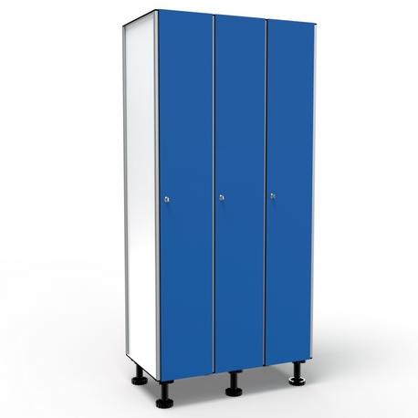 Casier 1 Porte 3 Colonnes - Bleu