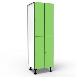 Locker 2 Doors 2 Modules - Green