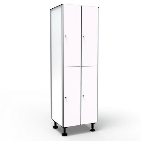 Locker 2 Doors 2 Modules - White