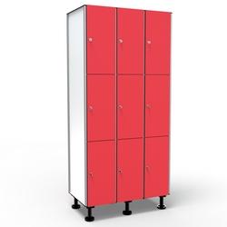 Phenolic Locker, L900/1200, 3 Doors 3 Modules