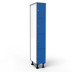 Casier 4 Portes 1 Colonne - Bleu
