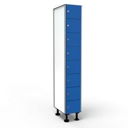 Casier 8 Portes 1 Colonne - Bleu