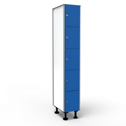 Casier 5 Portes 1 Colonne - Bleu