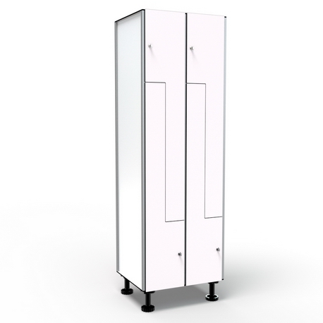 Locker 4 Doors in L - White