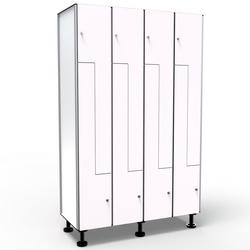 Phenolic Locker, 8 Doors in L