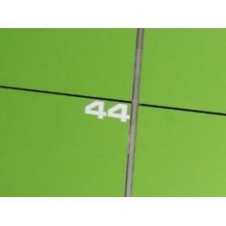Vinyl locker number tags